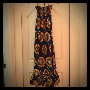 Dresses & Skirts - Strapless Handmade In Jamaica Dress